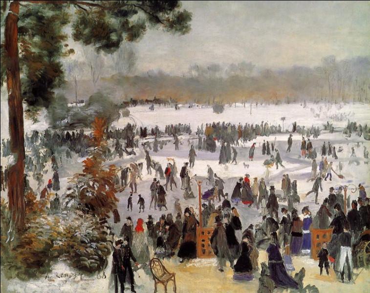 """Qui a peint """"Patineurs dans le bois de Boulogne"""" ?"""