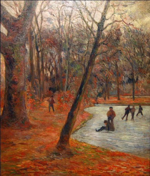 """Qui a peint """"Patineurs dans les jardins de Fredericksberg"""" ?"""