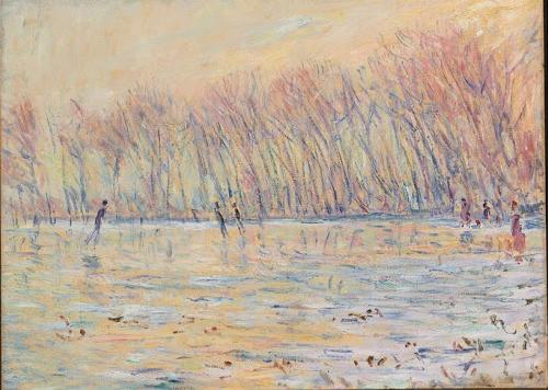 Les patineurs en peinture