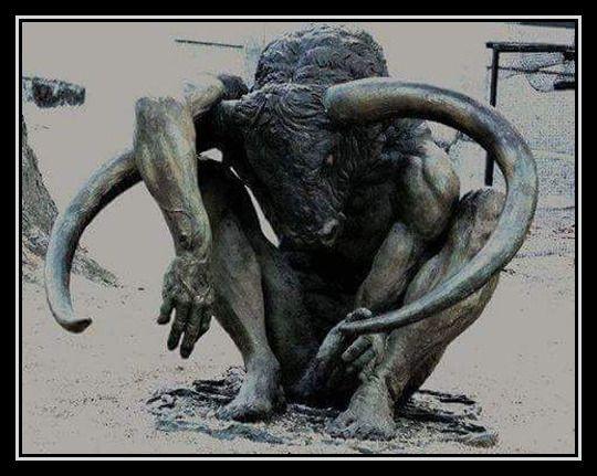 Le terrible Minotaure était anthropophage.