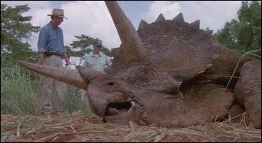 Quel dinosaure tombe malade vers le début du film ?