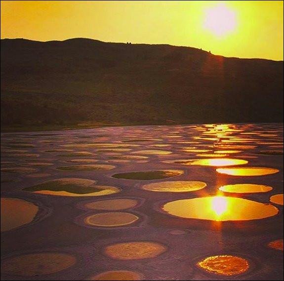 """Le """"Spotted Lake"""" présente des taches étranges, qui ne sont pas dues à la pollution. N'étant pas relié à la mer, c'est un lac dit """"..."""". Où se trouve-t-il ?"""