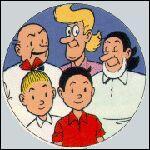 Comment s'appelle la tante de Bob et Bobette (sur la photo : à l'arrière plan, au milieu) ?