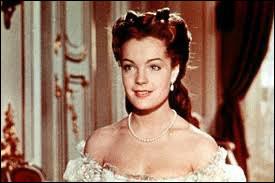 """Romy Schneider, après le film """"Lilas blancs"""" en 1953, a fait une percée fulgurante avec le personnage de ..."""