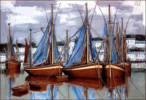Qui est le peintre de ces voiliers ?
