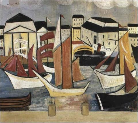 """Qui est l'artiste ayant représenté """"Voiliers au port"""" ?"""