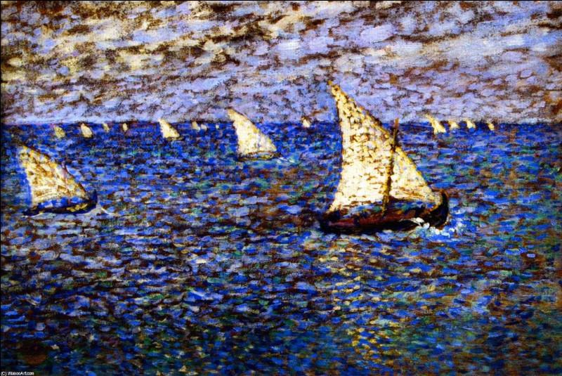 Qui a représenté ces bateaux de pêches ?