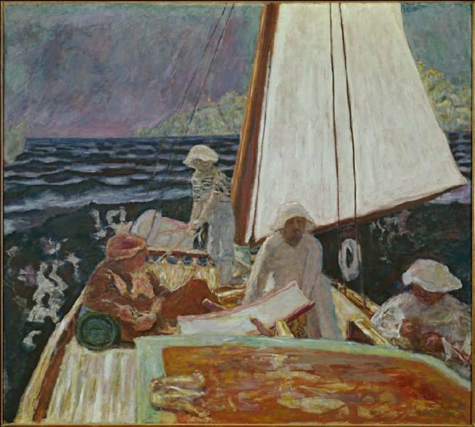 Qui a représenté Signac et ses amis dans un voilier ?