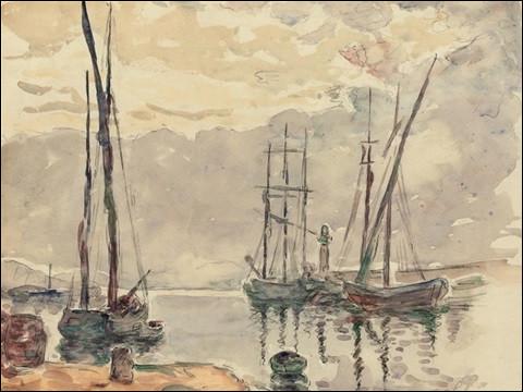 """À qui est la toile """"Voilier dans le port de Saint-Tropez"""" ?"""