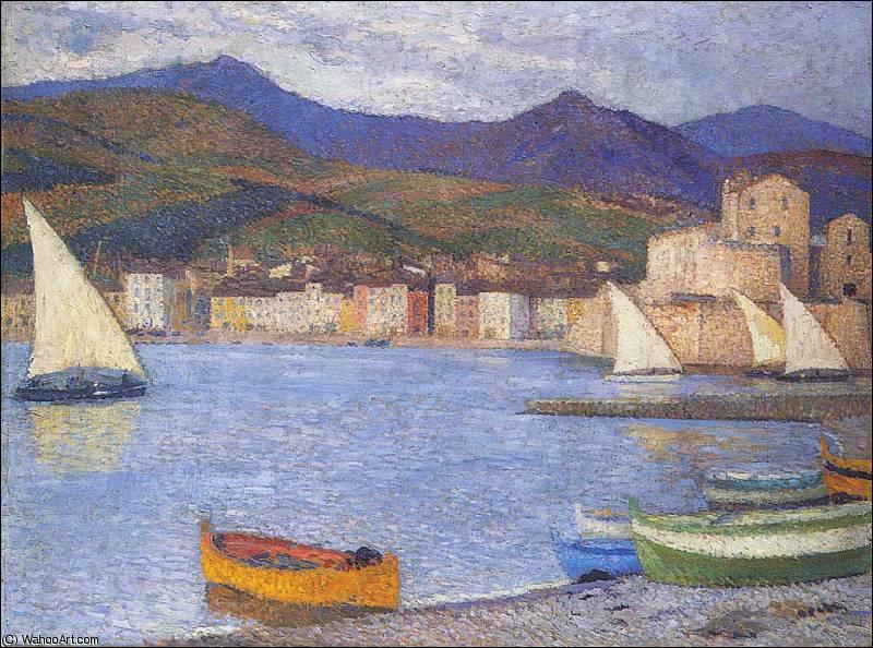 Qui a peint ces voiliers dans le port de Collioure ?