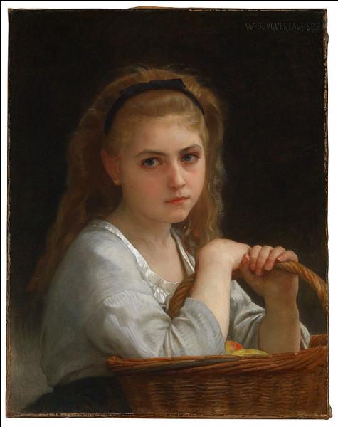 Qui a représenté cette jeune fille et son panier ?