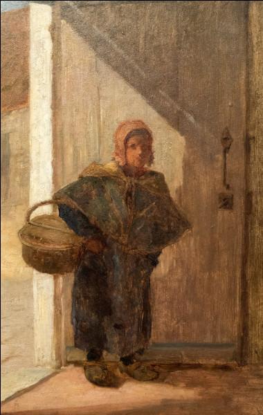 """Sa toile s'appelle """"Femme portant un panier :"""