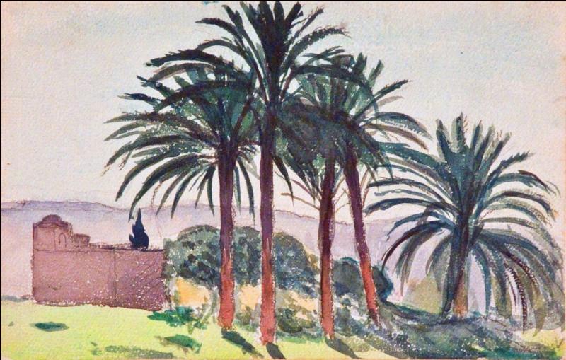 """Qui est le peintre de la toile intitulée """"Les Palmiers"""" ?"""