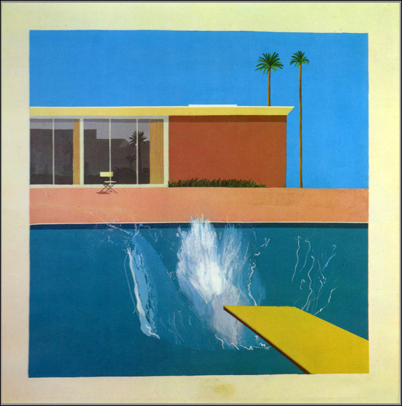 """On voit deux palmiers au loin... En français, on peut traduire le titre de son tableau par """"Le plus grand plongeon"""" !"""