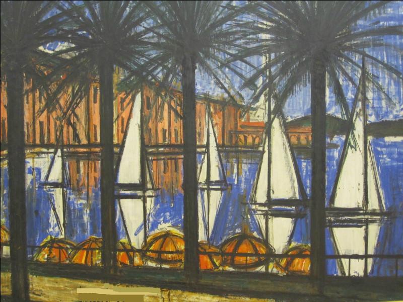 Qui a représenté ce port bordé de palmiers ?
