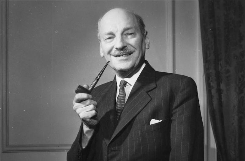 Cet homme politique britannique, chef du parti travailliste de 1935 à 1955 et Premier ministre de 1945 à 1951, c'est ... Attlee.