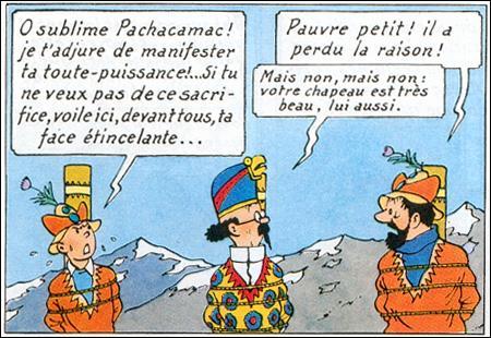 Quel phénomène sauve Tintin et ses amis dans «Le Temple du soleil» ?