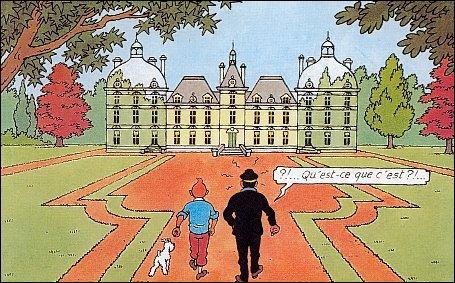 Dans quel pays se trouve le château de Moulinsart, là où vit le capitaine Haddock ?