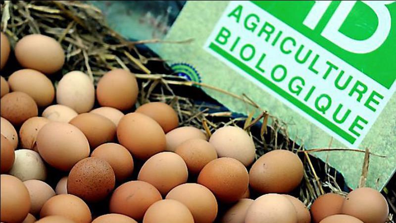 Quel premier chiffre désigne les oeufs issus de l'agriculture biologique en Europe ?