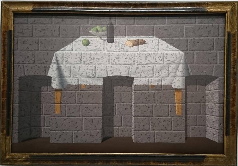 """Qui est le peintre de """"Table sur mur de briques"""" ?"""