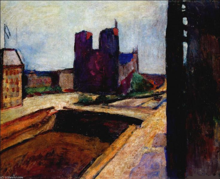 """Qui a peint """"Notre-Dame au mur violet"""" ?"""