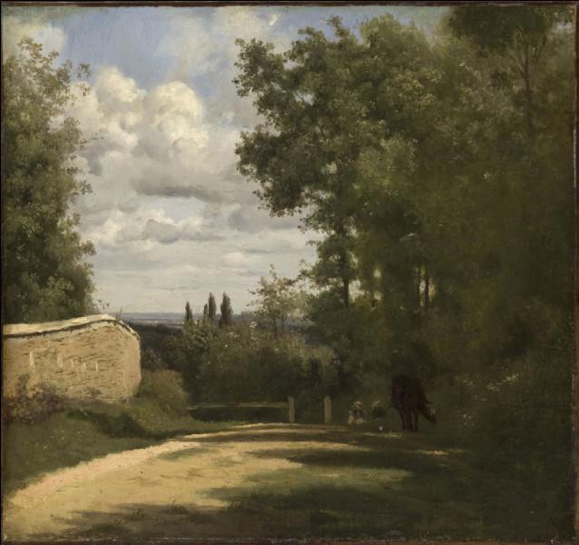 """Qui a peint ce mur sur la toile représentant """"Ville d'Avray"""" ?"""