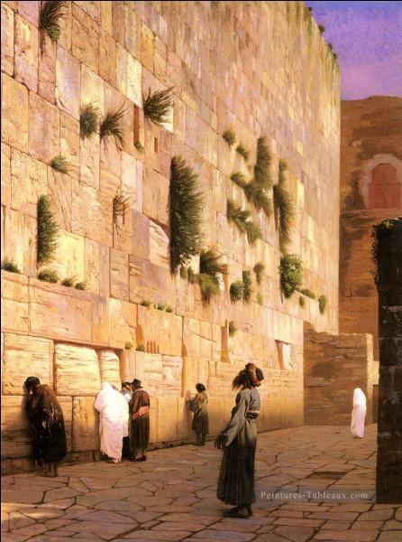 """Voici encore """"Le Mur des Lamentations"""" du peintre :"""