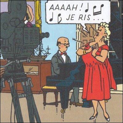 Dans les albums de Tintin, on rencontre la Castafiore, quel est le nom de son pianiste ?