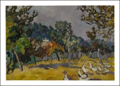 """Qui a peint """"Les Oies dans le pré"""" ?"""