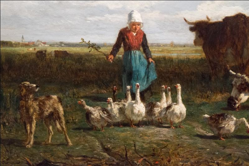 """À qui appartient la toile """"Le Pâturage à la gardeuse d'oies"""" ?"""