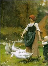 """Qui a représenté cette """"Gardeuse d'oie"""" ?"""