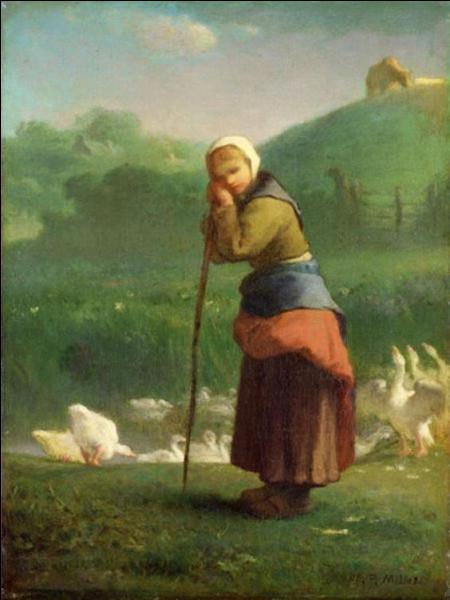 """Qui a peint """"La Gardeuse d'oies de Gruchy"""" ?"""