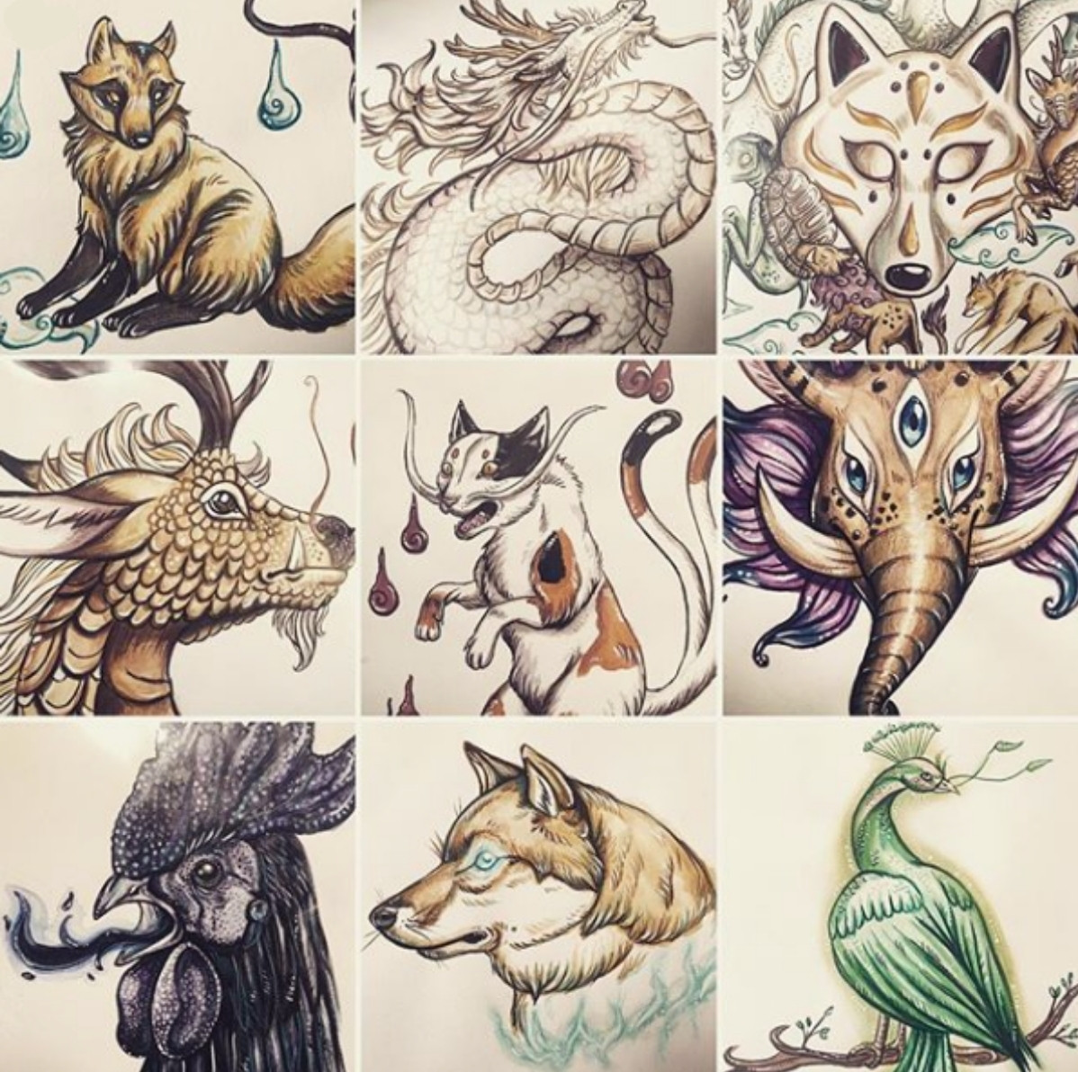 Les créatures de la mythologie japonaise