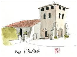 Nous terminons avec cette aquarelle représentant l'église de Vicq-d'Auribat. Commune Landaise, elle se situe en région ...