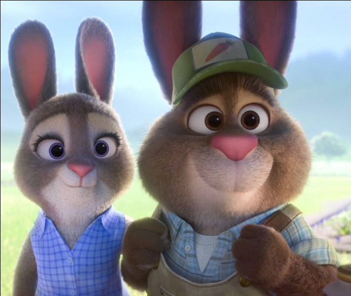 Comment s'appellent les parents de Judy Hopps ? (Zootopie)