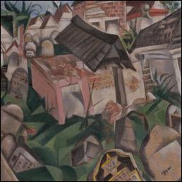 """Qui a peint ce tableau intitulé """"Le cimetière"""" ?"""