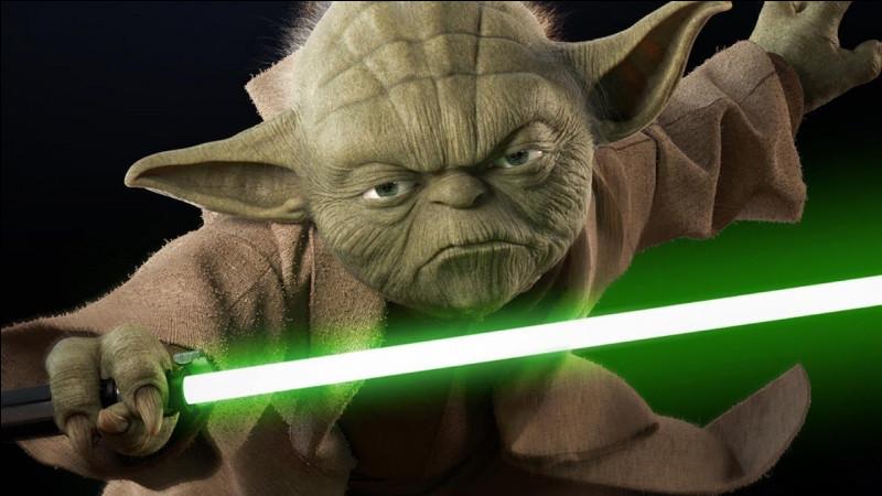 De quelle couleur est le sabre d'Anakin ?