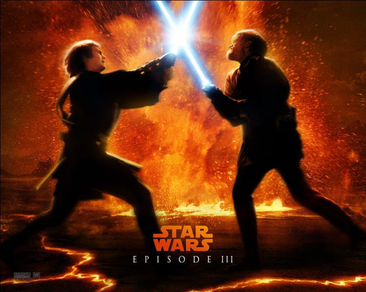 Quelle(s) est (sont) la (les) couleurs du sabre laser d'Anakin ?
