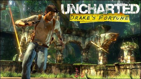 """Dans """"Uncharted 1"""" au début du jeu, que trouve-t-on quand Nathan Drake cherche le trésor de Sir Francis Drake ?"""
