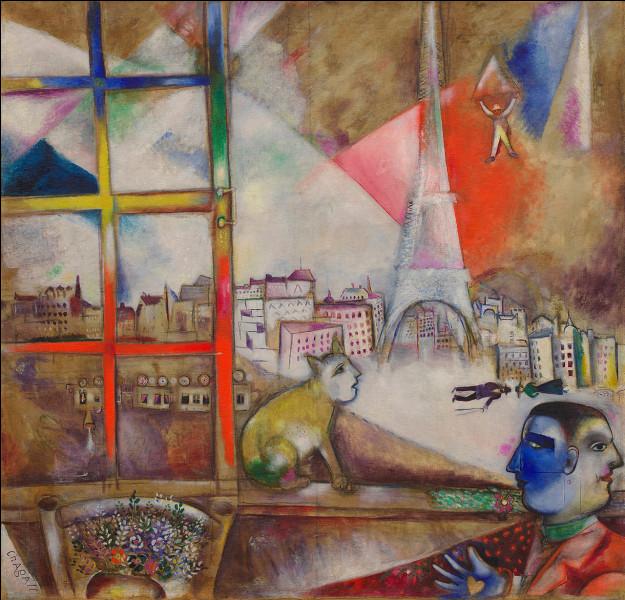 """Le titre du tableau de Marc Chagall """"Paris à travers ma fenêtre"""" a été donné par l'écrivain Blaise Cendrars."""