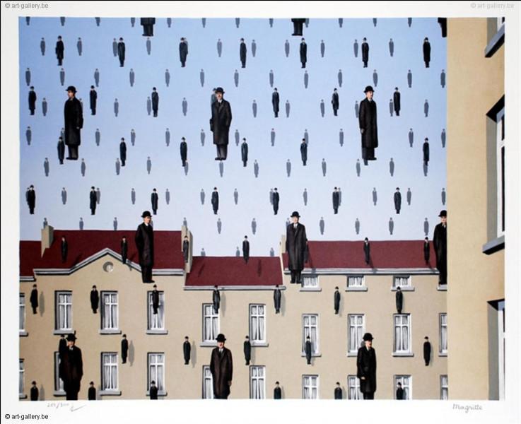 """René Magritte a titré ce célèbre tableau """"Golconde"""". Quelle en est la signification ?"""