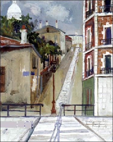 """Qui a peint """"Escalier à Montmartre"""" ?"""