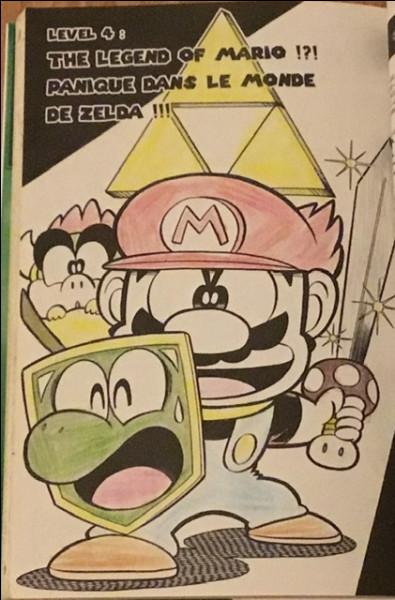 Dans quel chapitre Mario et Yoshi sont-ils dans le jeu Zelda ?
