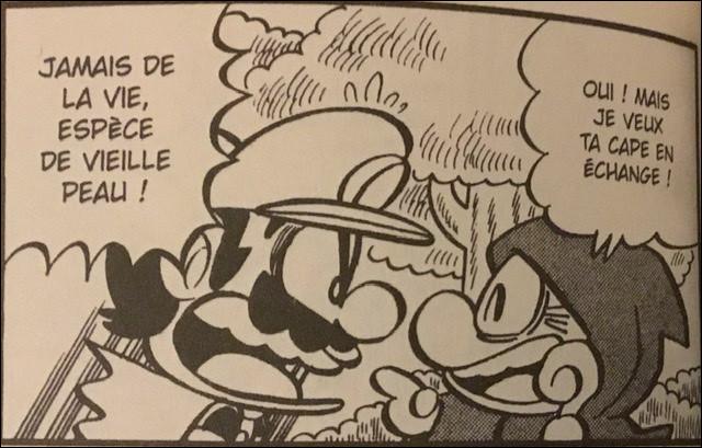 Comment Mario a-t-il perdu sa cape dans le chapitre 6 ?