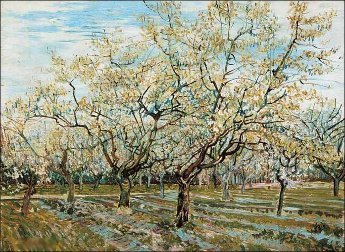 """Quel peintre est l'auteur du tableau """"Vergers fleurissants"""" ?"""