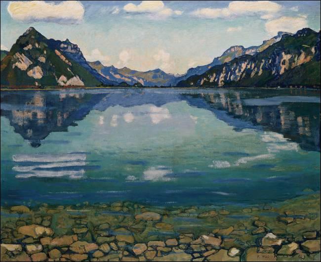 """""""Le Lac de Thoune"""" est l'œuvre de quel peintre ?"""