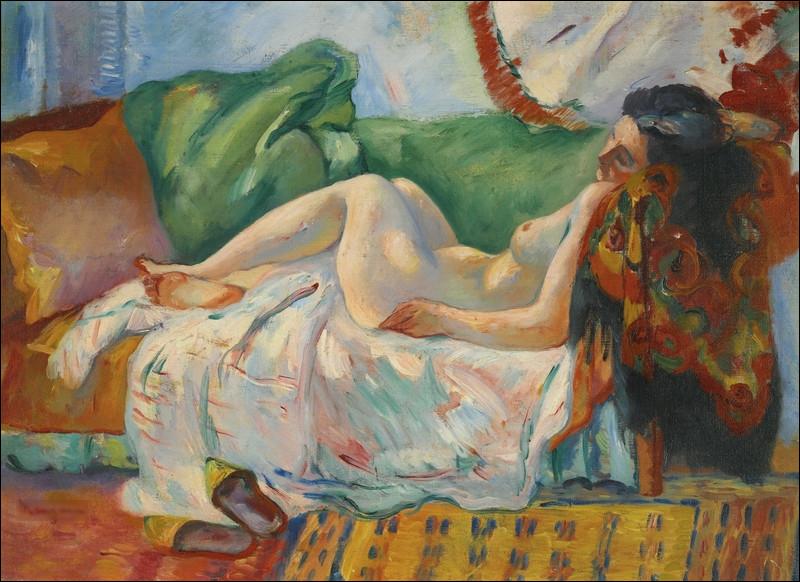 """Qui a réalisé le tableau """"Femme nue allongée"""" ?"""