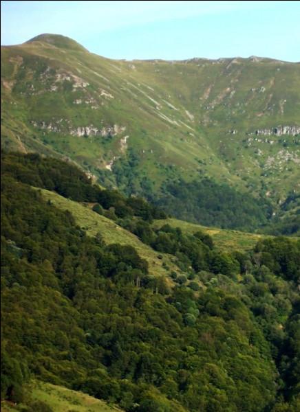 Quel est le nom du point culminant des monts du Cantal qui fait 1 855 mètres d'altitude ?