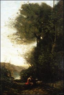 """Qui a peint """"Goatherd charmant sa chèvre avec une flûte"""" ?"""