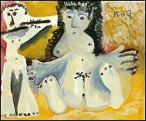 """Qui a peint """"Homme assis jouant de la flûte"""" ?"""